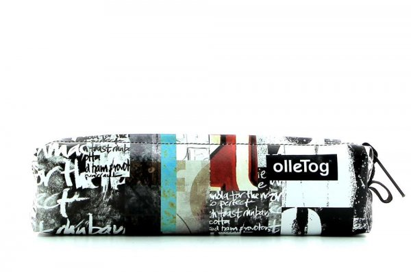 Pencil case Marling Lehrershof white, scriptures, black, yellow, gray, turquoise