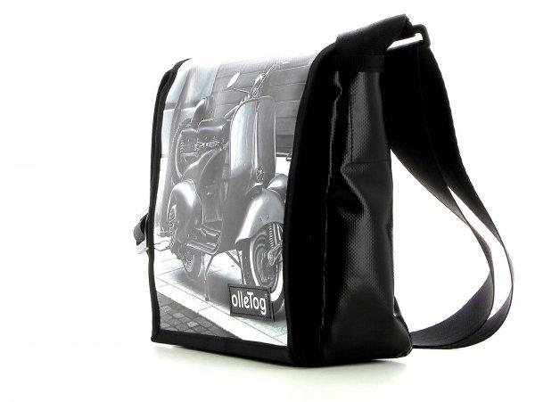 Messenger bag Glurns Trafoi motorcycle, vespa, retro, vintage, white, black