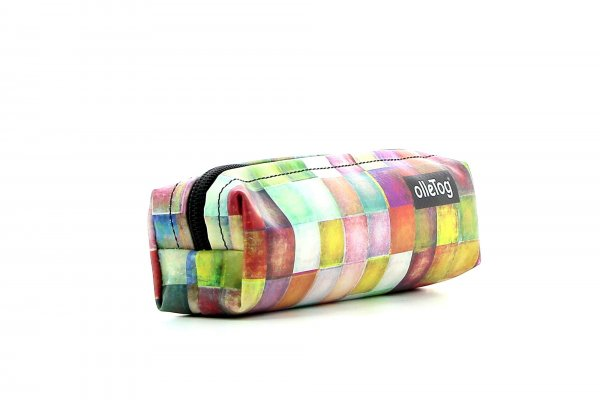 Pencil case Marling Walburg plaid, colored, geometric, yellow, white, pink, green, blue