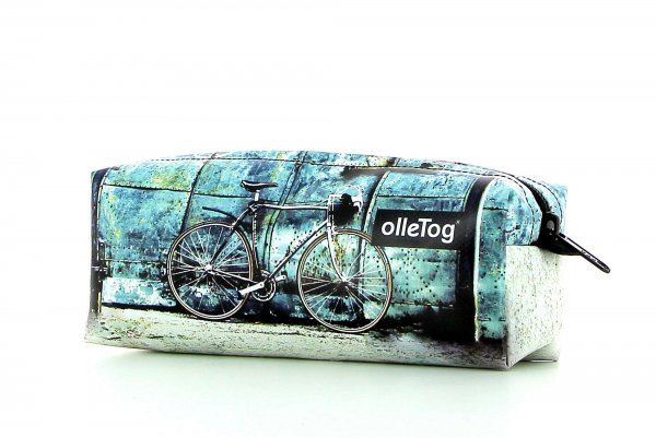 Pencil case Rabland Antlas racing cycle, retro, vintage, turquoise, white, black