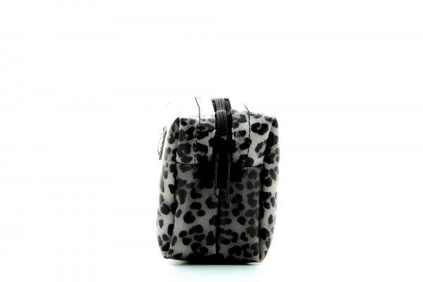 Kosmetiktasche Burgstall Treib Leopardenmuster, braun, schwarz, grau