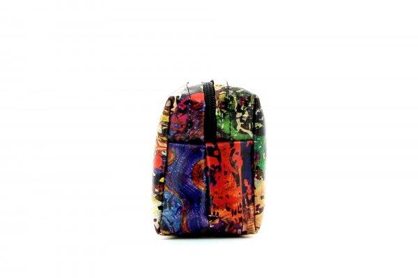 Kosmetiktasche Burgstall Schallhof Bunt, abstrakt, rot, blau, grün