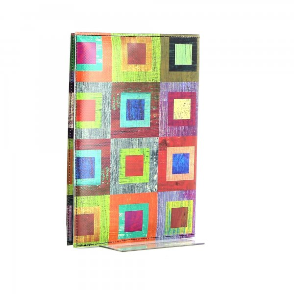 Notizheft Tarsch - A5 Damm Bunt, kariert, geometrisch, gelb, lila, blau