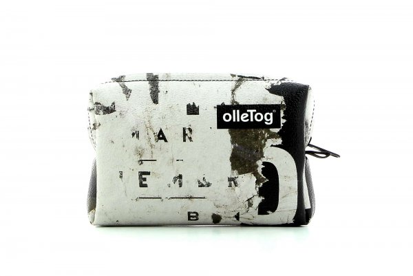 Cosmetic bag Vilpian Gumer billboard, scriptures, vintage, white, brown, black, white