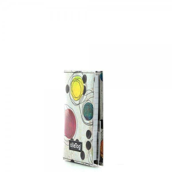 Notizheft Laas - A6 Bruder Willram Punkte, bunt, beige, gelb, grün, lila, orange
