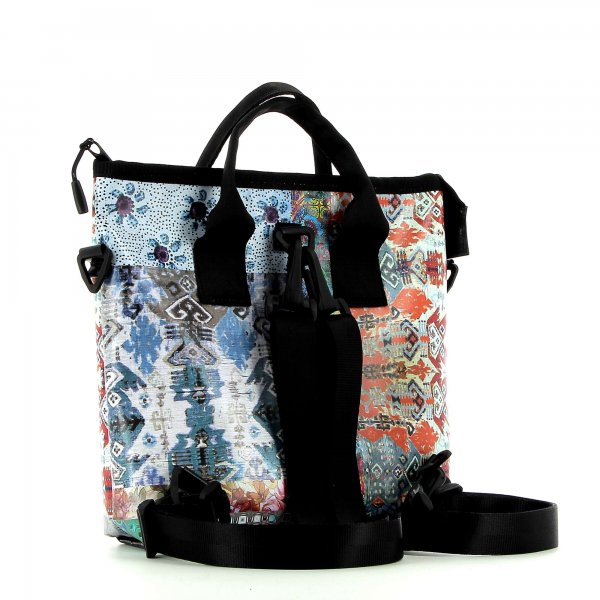 Backpack bag Siebeneich Puni Patchwork, flowers, pattern, colourful, texture