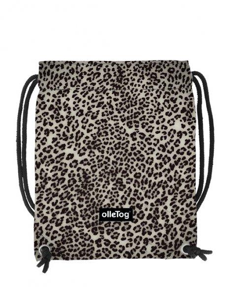 Turnbeutel Corvara Treib Leopardenmuster, braun, schwarz, grau