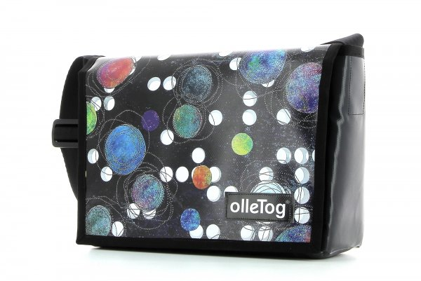 Messenger bag Eppan Selva dots, black, colored, white, blue