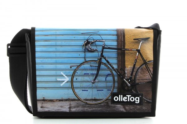 Umhängetasche Eppan Bari Fahrrad, Rennrad, retro, Vinage, blau, gelb, schwarz