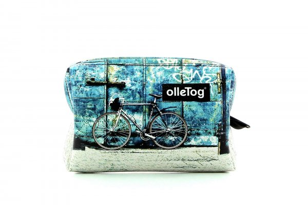 Cosmetic bag Vilpian Antlas racing cycle, retro, vintage, turquoise, white, black