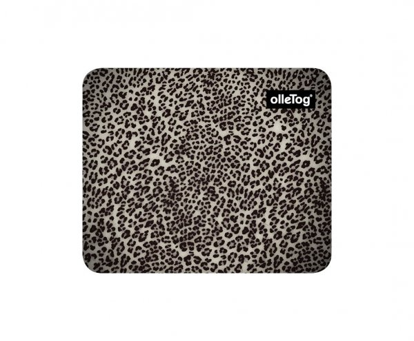 Mousepad Enneberg Treib Leopardenmuster, braun, schwarz, grau