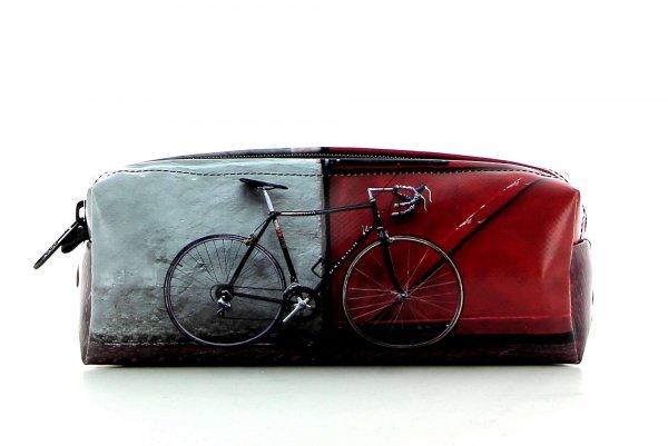 Pencil case Rabland Zara racing bicycle, red door, pavement cubes