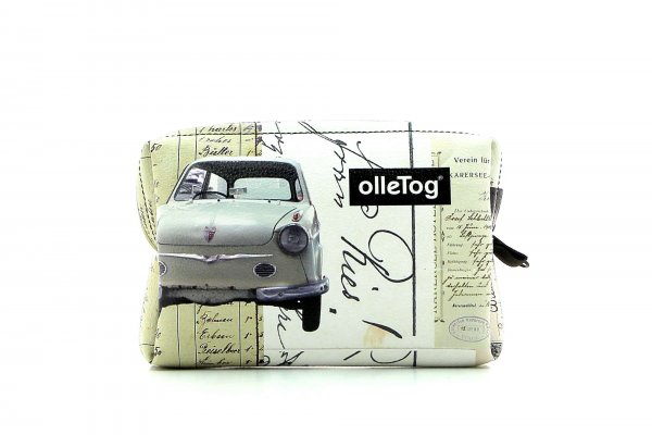 Cosmetic bag Vilpian Futzi car, collage, old timer, scriptures