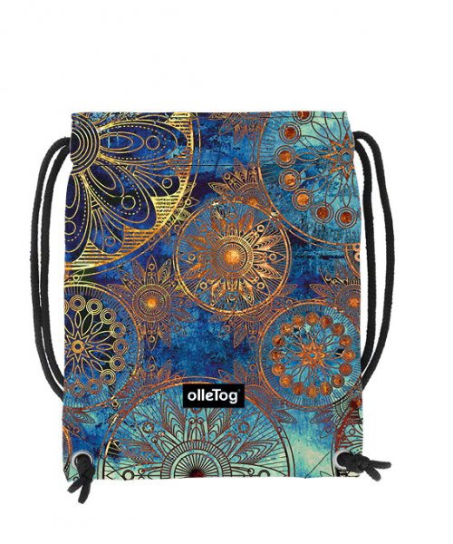 Gym backpack Corvara San Marco flowers, blue, gold, yellow