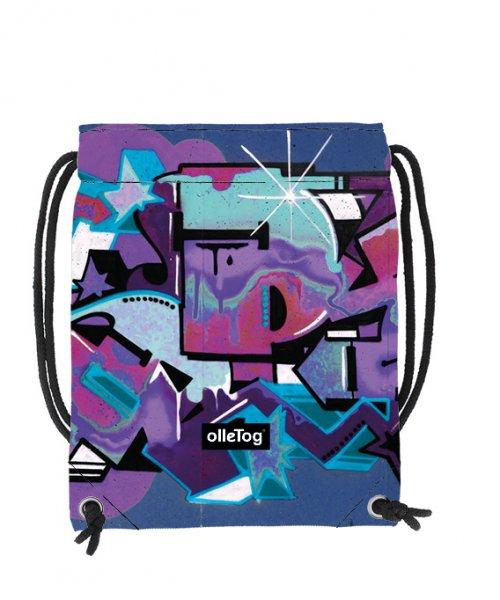 Turnbeutel Corvara Rosegger Graffiti, viollet