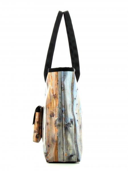 Taschen Shopper Saldur Tür, Holztür, braun