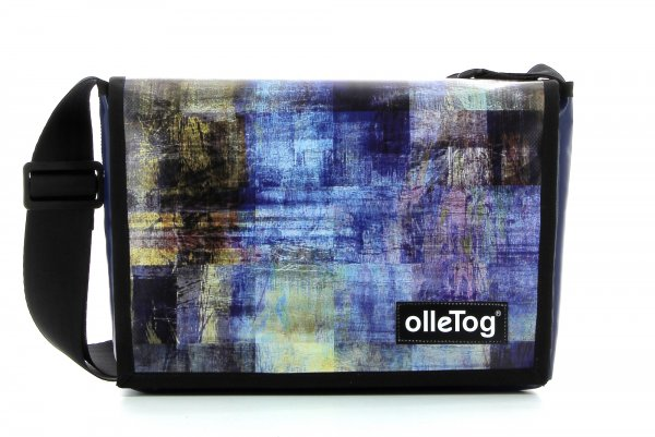 Taschen Kaltermoos Abstrakt, kariert, blau, braun, geometrisch