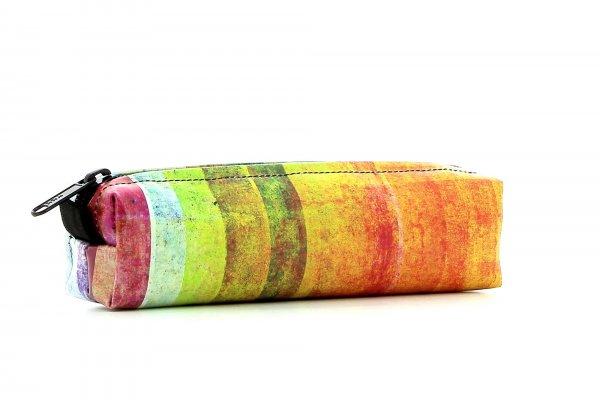 Federmäppchen Marling Markus Kariert, bunt, geometrisch, pink, gelb, orange, weiß, lila