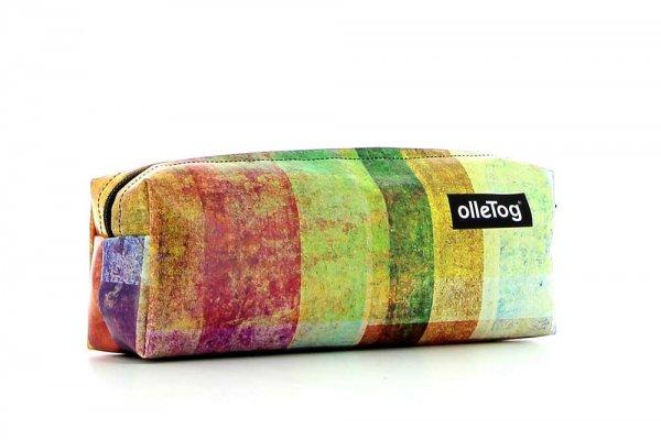 Pencil case Rabland Markus plaid, colored, geometric, pink, yellow, orange, white, lilac