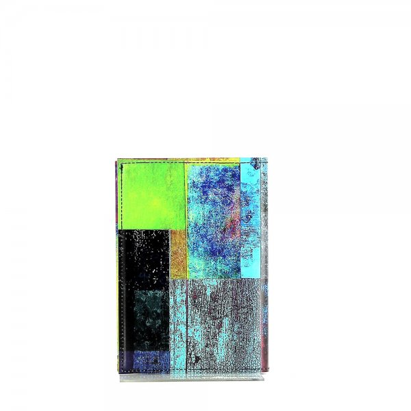 Notebook Laas - A6 Brida plaid, colored, yellow, blue, green, geometric