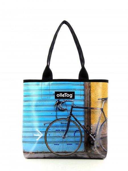 Shopper Kurzras Bari Fahrrad, Rennrad, retro, Vinage, blau, gelb, schwarz