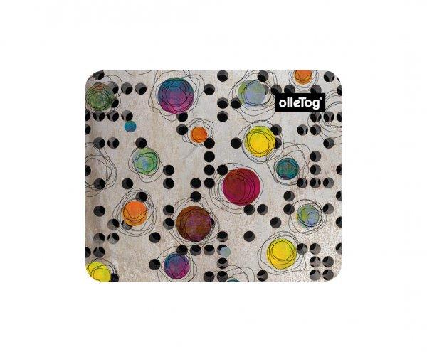 Mousepad Enneberg Bruder Willram Punkte, bunt, beige, gelb, grün, lila, orange