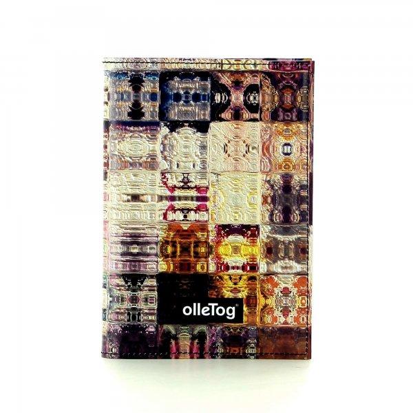 Notizheft Laas - A6 Weingueter Abstrakt, kariert, rot, Bordeaux, geometrisch, lila